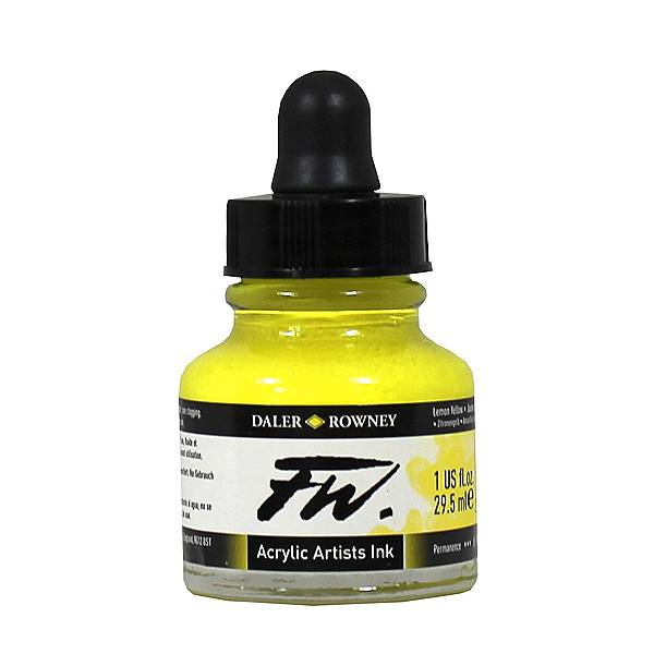 Daler-Rowney FW Ink 29.5ML Lemon Yellow