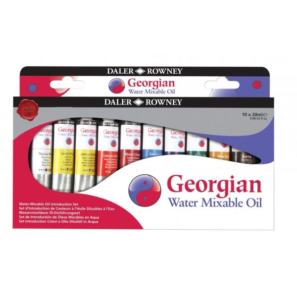 Daler-Rowney Georgian Water Mixable Oil Set 10X20ML