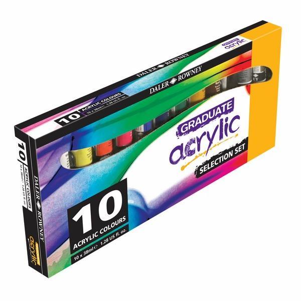 Daler-Rowney Graduate Acrylic Introduction Set of 10 X 38 ML