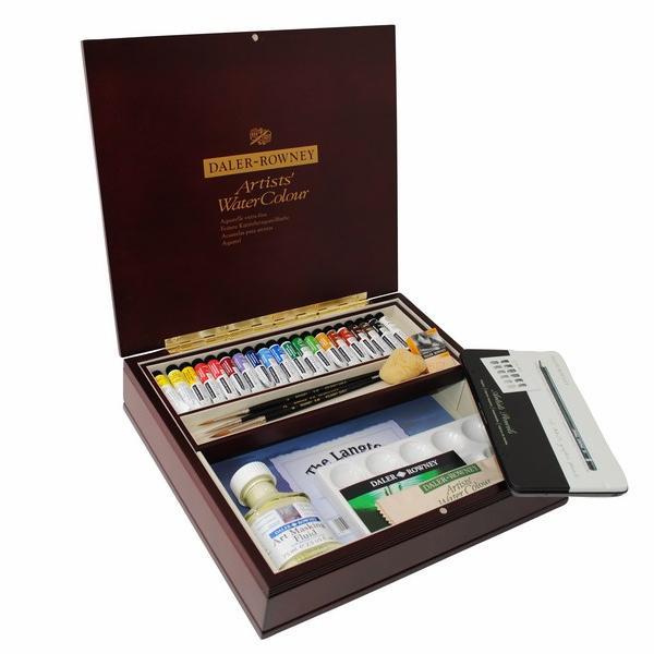 Daler-Rowney Artists' Watercolour Large Wooden Box Set - Tube