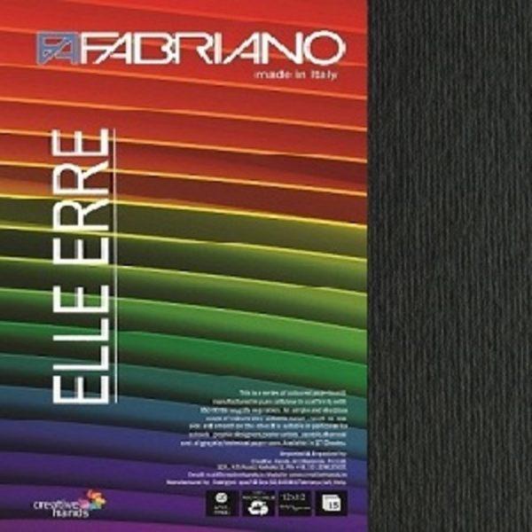 Fabriano Elle Erre 12X12 Nero