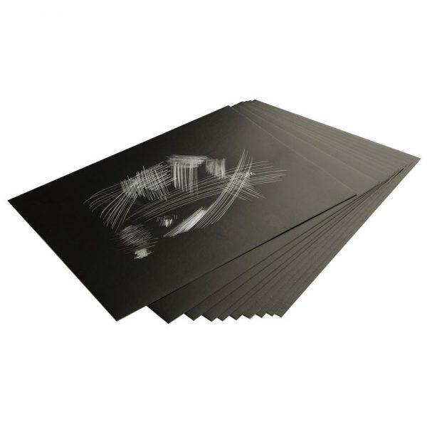 Essdee Scraperboard Silver 305X229MM (Pack of 10)