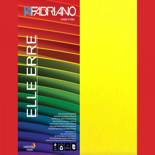Fabriano Elle Erre A4 Giallo (Pack of 2)