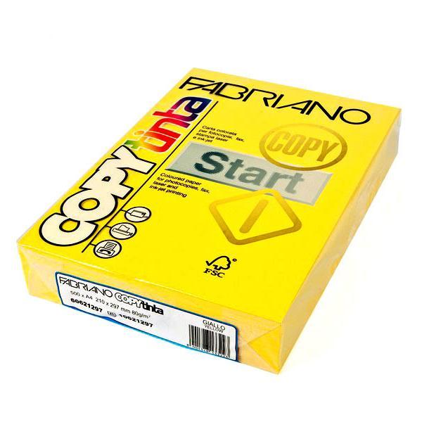 Fabriano Copy Tinta A4 Giallo (Jumbo Pack of 500)