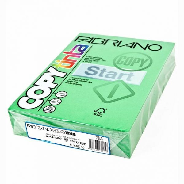 Fabriano Copy Tinta A4 Verde Pisello (Jumbo Pack of 500)