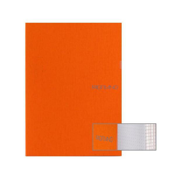 Fabriano Ecoqua A5 Glued Bound Dot Notebook Orange