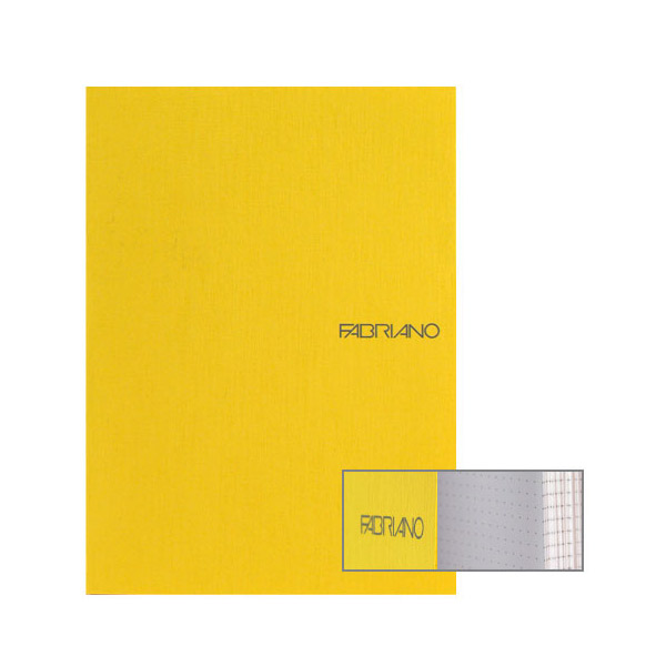Fabriano Ecoqua A5 Glued Bound Dot Notebook Yellow