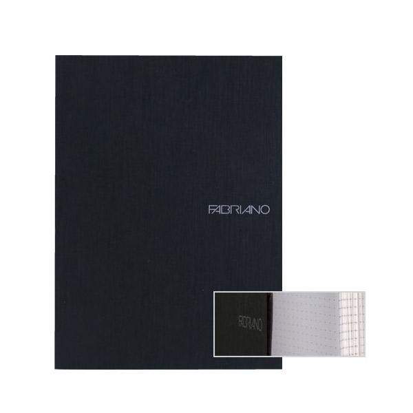 Fabriano Ecoqua A5 Glued Bound Dot Notebook Black