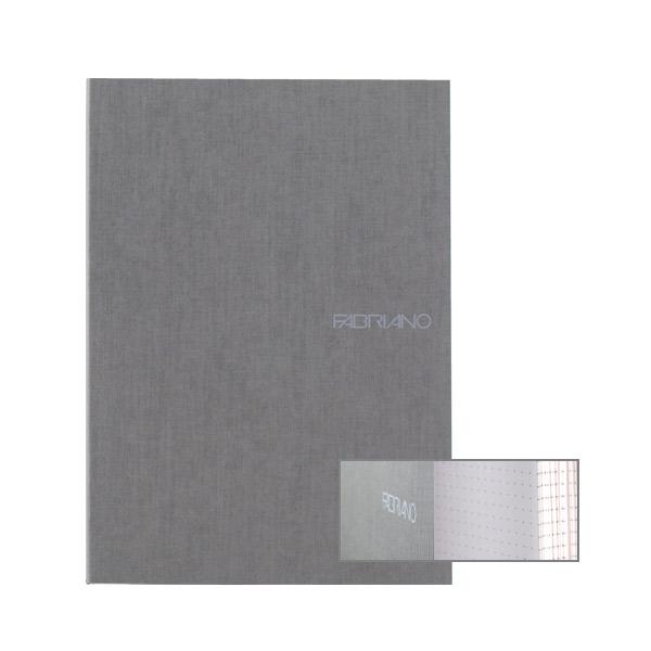 Fabriano Ecoqua A5 Glued Bound Dot Notebook Grey