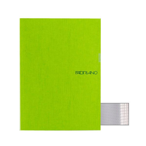 Fabriano Ecoqua A5 Glued Bound Dot Notebook Lime