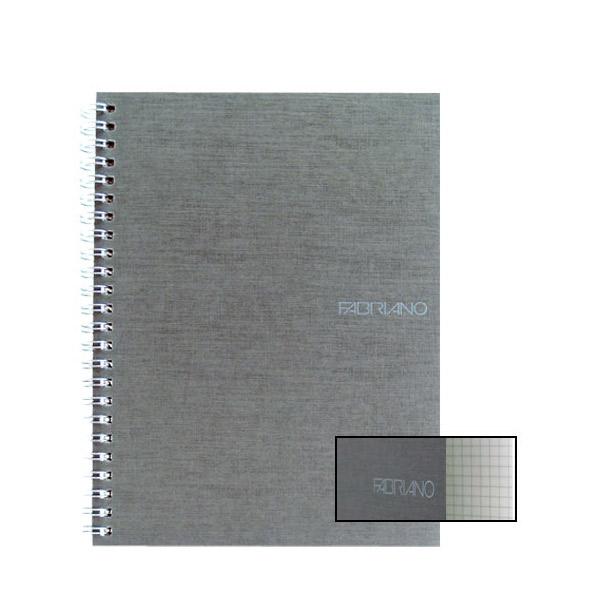 Fabriano Ecoqua A5 Spiral Bound Graph 5MM Notebook Grey