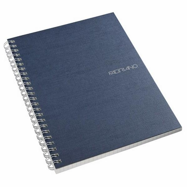 Fabriano Ecoqua A5 Spiral Bound Lined Notebook Blue