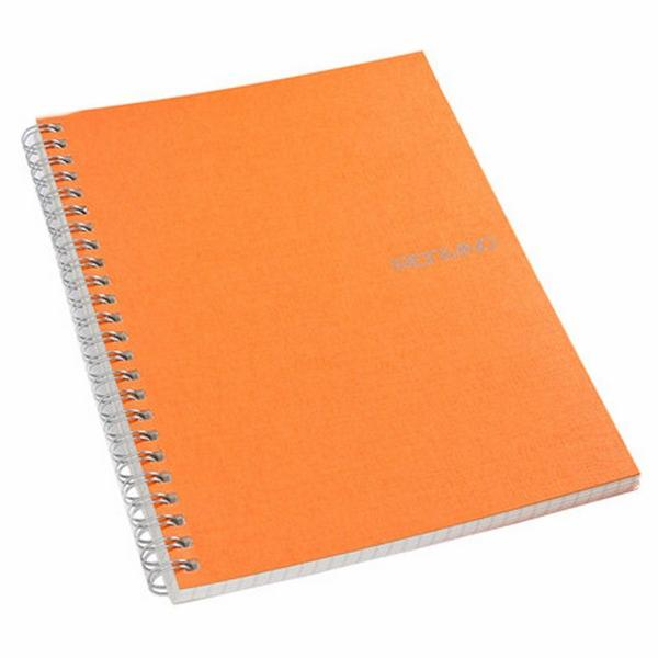 Fabriano Ecoqua A5 Spiral Bound Lined Notebook Orange