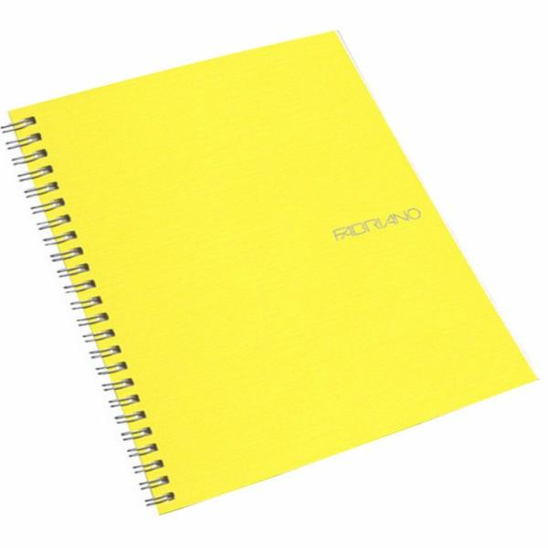 Fabriano Ecoqua A5 Spiral Bound Lined Notebook Yellow