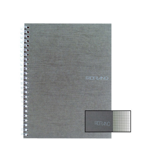 Fabriano Ecoqua A4 Spiral Bound Graph 10MM Notebook Grey