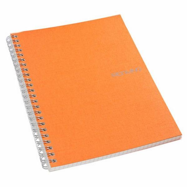 Fabriano Ecoqua A4 Spiral Bound Blank Notebook Orange