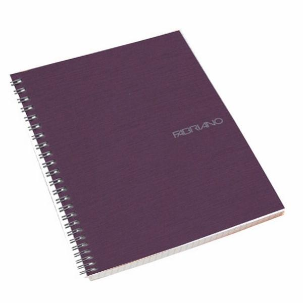 Fabriano Ecoqua A4 Spiral Bound Blank Notebook Purple