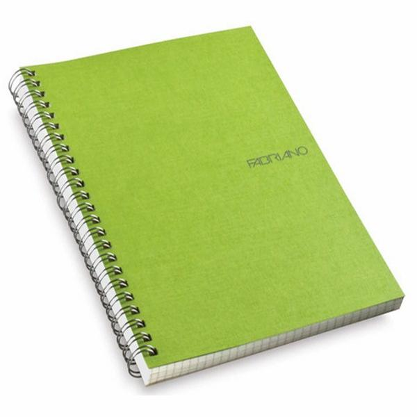 Fabriano Ecoqua A4 Spiral Bound Blank Notebook Lime