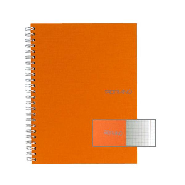 Fabriano Ecoqua A4 Spiral Bound Graph 4MM Notebook Orange