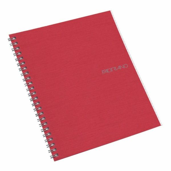 Fabriano Ecoqua A5 Spiral Bound Blank Notebook Raspberry
