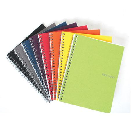 Fabriano Ecoqua A5 Spiral Bound Graph 5MM Notebook (Set of 8 Assorted Colours)