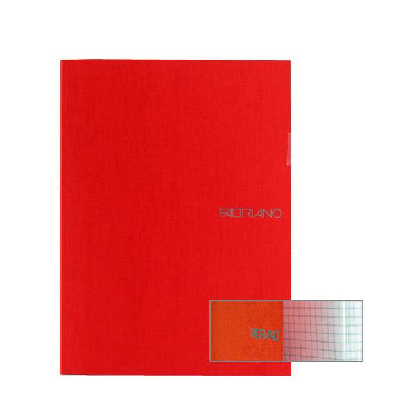 Fabriano Ecoqua A4 Staple Bound Graph 4MM Notebook Raspberry (Pack of 2)