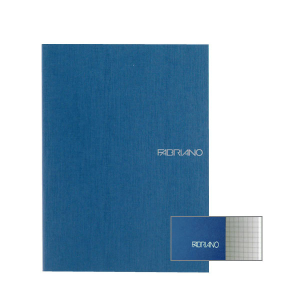 Fabriano Ecoqua A4 Staple Bound Graph 4MM Notebook Blue (Pack of 2)