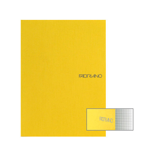 Fabriano Ecoqua A4 Staple Bound Graph 4MM Notebook Yellow (Pack of 2)