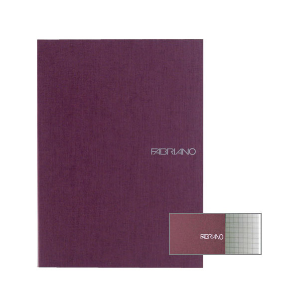 Fabriano Ecoqua A4 Staple Bound Graph 4MM Notebook Purple (Pack of 2)