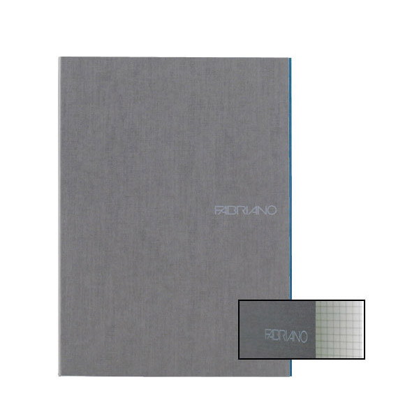 Fabriano Ecoqua A4 Staple Bound Graph 4MM Notebook Grey (Pack of 2)