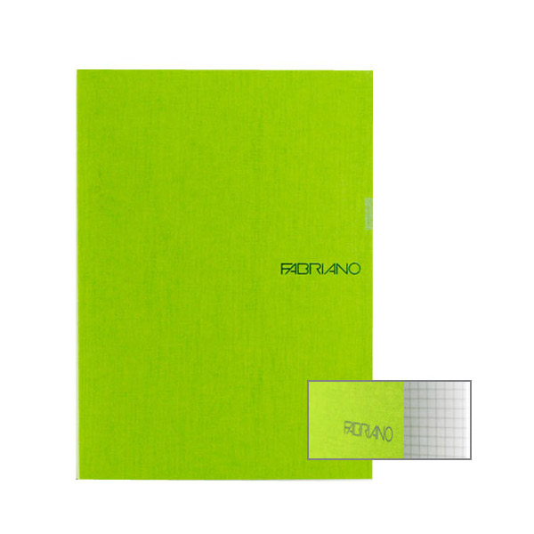 Fabriano Ecoqua A4 Staple Bound Graph 4MM Notebook Lime (Pack of 2)