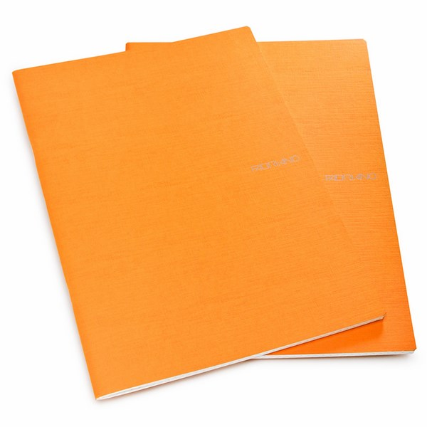 Fabriano Ecoqua A4 Staple Bound Blank Notebook Orange (Pack of 2)