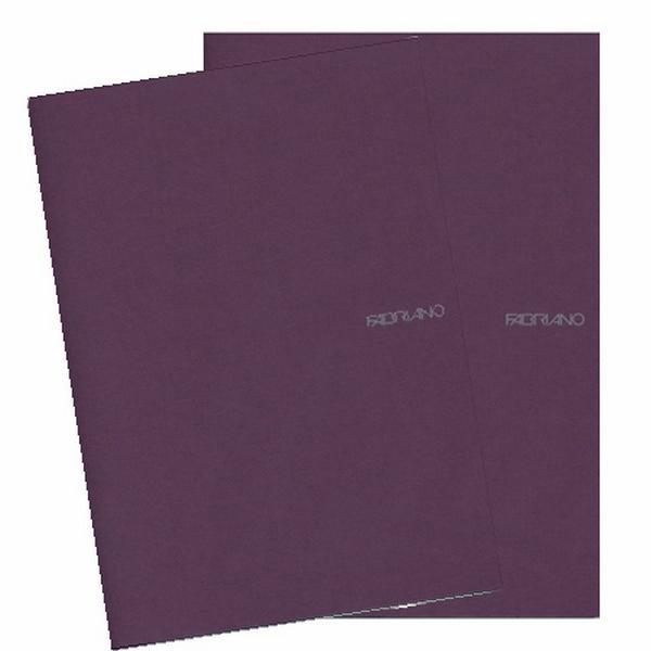 Fabriano Ecoqua A4 Staple Bound Blank Notebook Purple (Pack of 2)