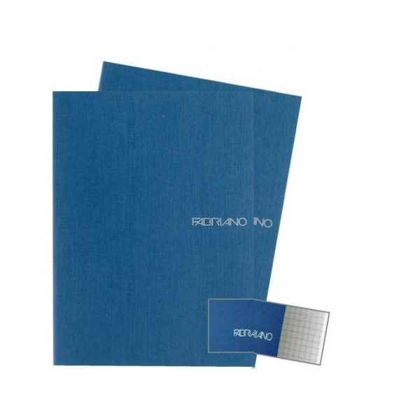 Fabriano Ecoqua A4 Staple Bound Graph 5MM Notebook Blue (Pack of 2)