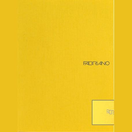 Fabriano Ecoqua A4 Staple Bound Graph 5MM Notebook Yellow (Pack of 2)