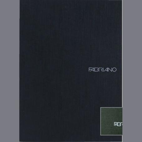 Fabriano Ecoqua A4 Staple Bound Graph 5MM Notebook Black (Pack of 2)