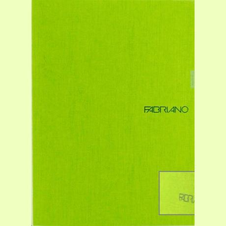 Fabriano Ecoqua A4 Staple Bound Graph 5MM Notebook Lime (Pack of 2)