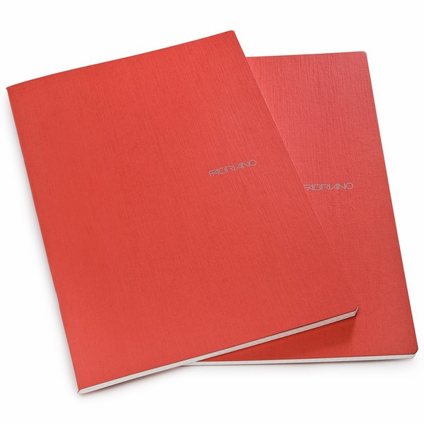 Fabriano Ecoqua A4 Staple Bound Lined Notebook Raspberry (Pack of 2)