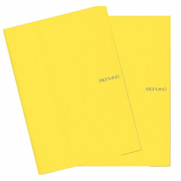 Fabriano Ecoqua A4 Staple Bound Lined Notebook Yellow (Pack of 2)
