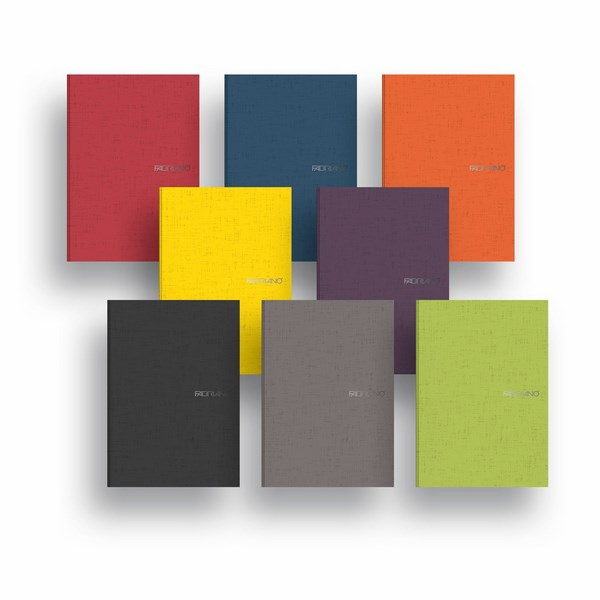 Fabriano Ecoqua A4 Staple Bound Graph 5MM Notebook (Set of 8 Assorted Colours)