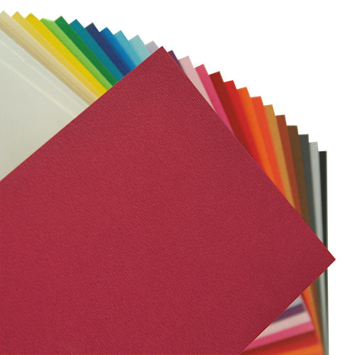 Fabriano Elle Erre Sheet 50 X 70 CM Ciliegia (Pack of 10)
