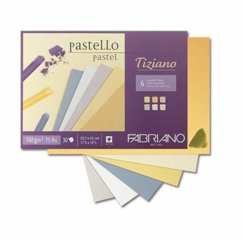 Fabriano Tiziano Pastel Blocks 6 Soft Colours 160 GSM A3