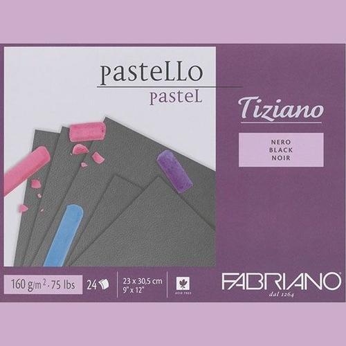 Fabriano Tiziano Pastel Blocks Black 160 GSM 23 X 30.5 CM