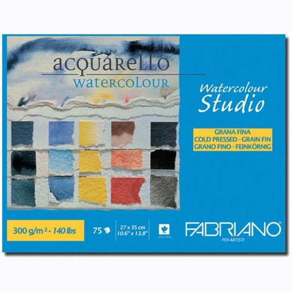 Fabriano Studio Watercolor Blocks CP 300 GSM 27 X 35 CM (1 SIDE GLUED)