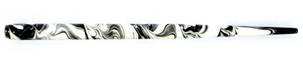 William Mitchell Calligraphy Dip Pen Holder Black & White Marbled