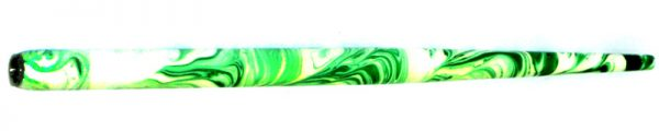 William Mitchell Calligraphy Dip Pen Holder Green & White Marbled
