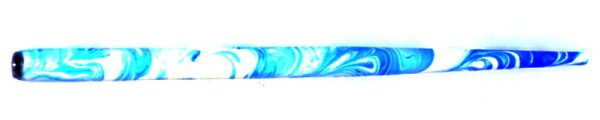 William Mitchell Calligraphy Dip Pen Holder White & Blue Marbled