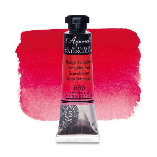 Sennelier l'Aquarelle French Artists' Watercolor 10 ML Sennelier Red