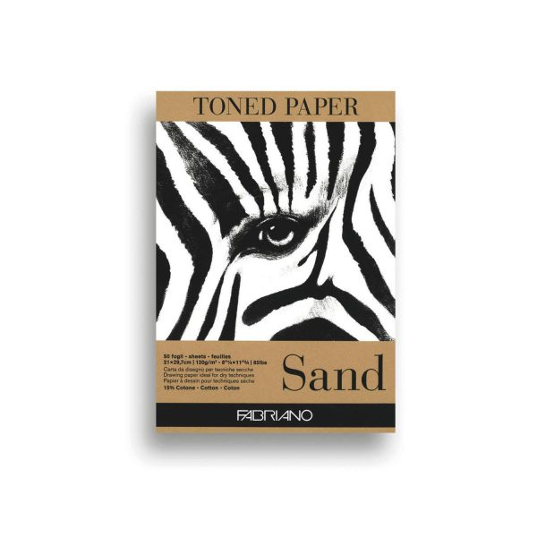 Fabriano Toned Paper Pad Sand, Size - A4, 120 GSM (Contains- 50 Sheets)