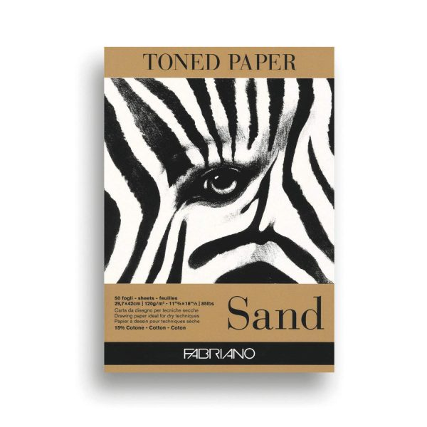 Fabriano Toned Paper Pad Sand, Size - A3, 120 GSM (Contains- 50 Sheets)